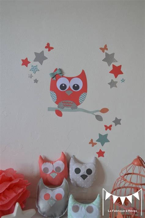 stickers chambre bebe 22 best images about chambre fille et hiboux on