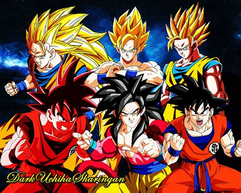 Imagenes De Goku En Todas Las Fases | goku saiyan fases by darkuchihasharingan on deviantart