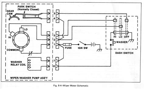 1986 S10 Wiper Motor Wiring Diagram Repair Manual