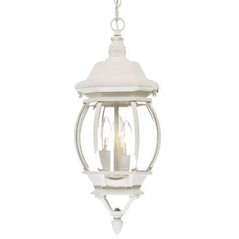White Outdoor Light Fixtures Acclaim Lighting Chateau Collection 3 Light Textured White Outdoor Hanging Lantern Light Fixture