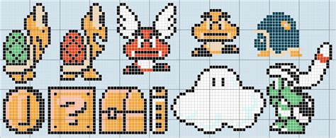 Drawing 8 Bit Characters by Pixel Mario Level Pencil And In Color