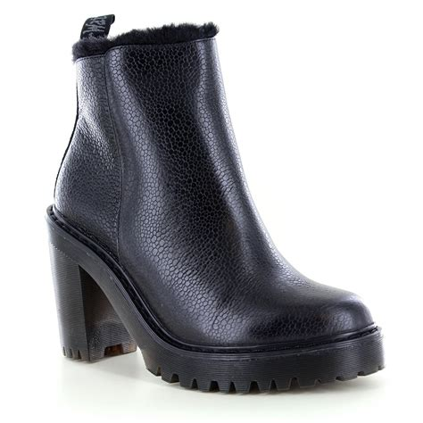 dr martens magdalena womens warm leather ankle boots black