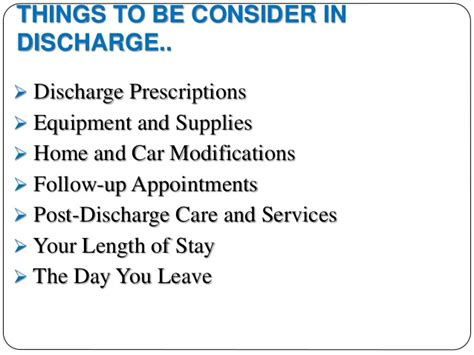 discharge planning checklist nursing home home plan