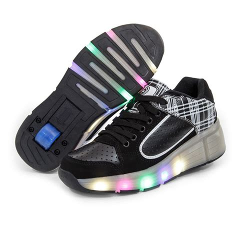 shoes with wheels led lights children shoes sneakers with wheels