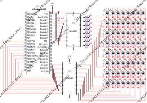 led running display circuit diagram led based running display circuit diagram circuit and