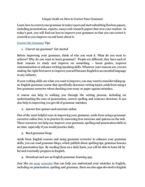 Correct Your Essay by Correct My Essay Essays Format Toreto Co Ayucar