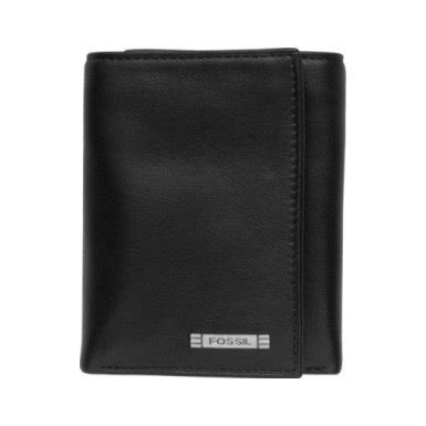 Fossil Wallet Black Limited Grosir fossil s ml4266 zip trifold wallet black