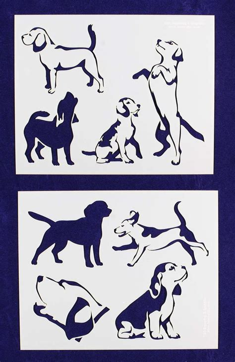 dog silhouette tattoo beagle dogs mylar stencils beagles dogs