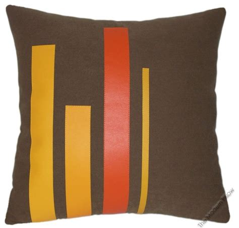 brown yellow pillows 20x20 quot square orange yellow brown graphs throw pillow