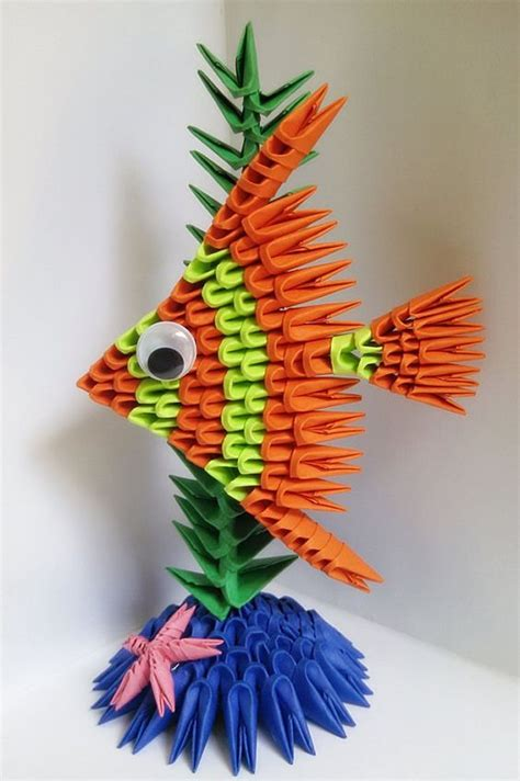 How To Make 3d Origami Fish - 3d origami fish paper fish 3d fish origami fish 3d