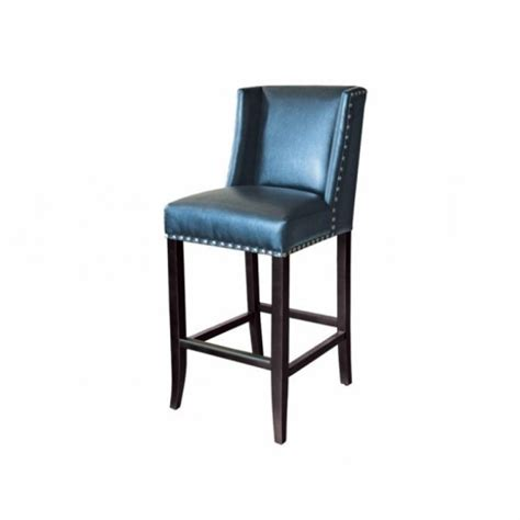Blue Faux Leather Bar Stool by Blue Leather Bar Stools Festivalsociety Org