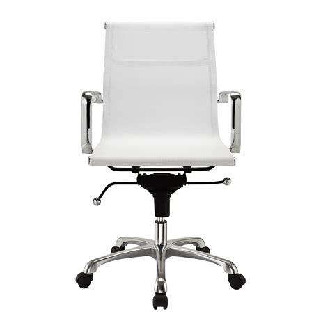modern mesh mid back office modern mesh mid back office chair in white