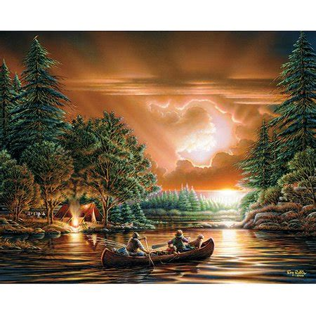 white mountain puzzles terry redlin collection evening