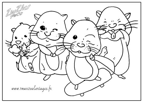 coloring pages zuzu pets coloriages zuh zuh pets hamster