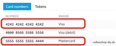 kreditkarten nummer visa stripe kreditkarten testen onlineshop diy