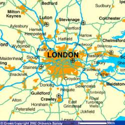 London England Map by London England Map