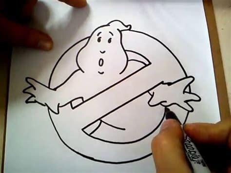 como dibujar el logo de los cazafantasmas how to draw