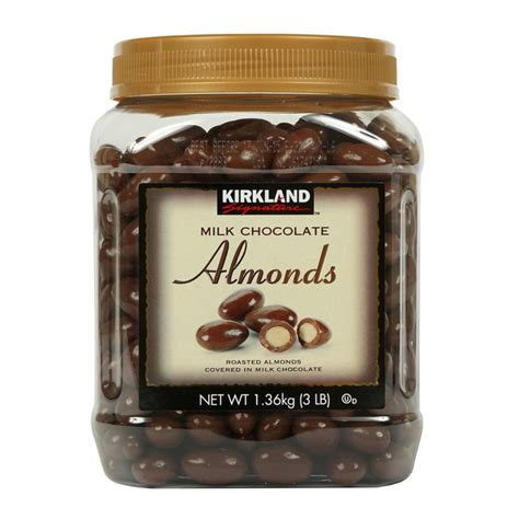 Gb 500gram Almond Milk Chocolate kirkland signature milk chocolate almonds 1 36kg costco uk