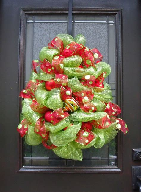 christmas tree wreath deco mesh christmas wreath red and