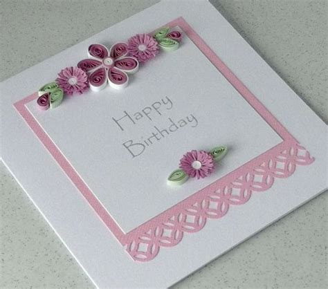 Handmade Quilling Paper - quilled birthday card paper quilling handmade birthday