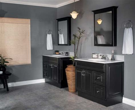 bathrooms with black vanities ideas home design