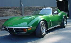 green 1972 chevrolet corvette coupe 37k aucton
