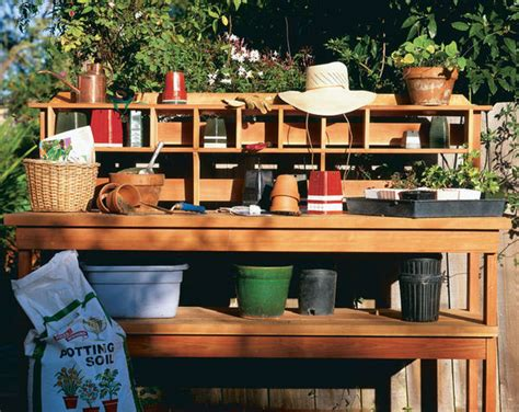 how to build a simple potting bench 16 potting bench plans to make gardening work easy the self sufficient living
