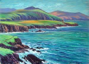dunquin coast 2 painting oil pastel