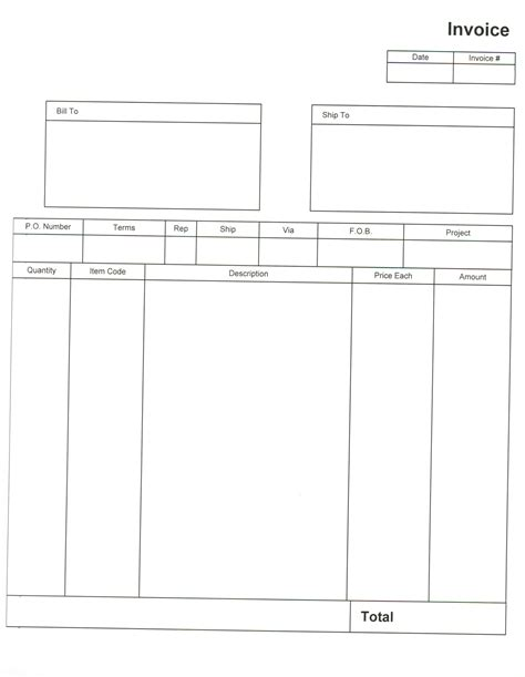 Invoice Format Pdf Free Printable Invoice Free Blank Invoice Template Excel