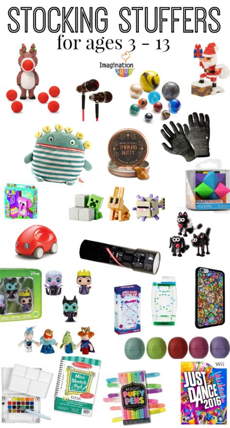 ideas for stuffers stuffers for and ages 3 13