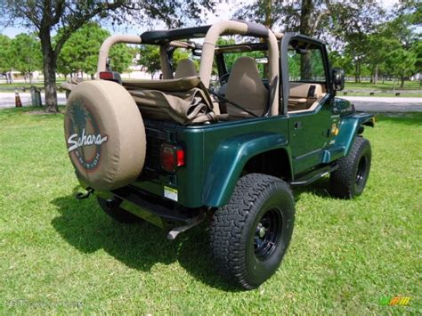 dark green jeep lifted 2000 forest green pearl jeep wrangler sahara 4x4 88577060