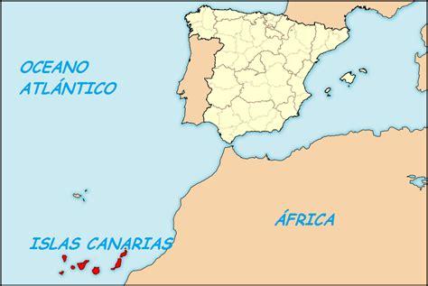 canarias y africa mapa image gallery islas canarias espana