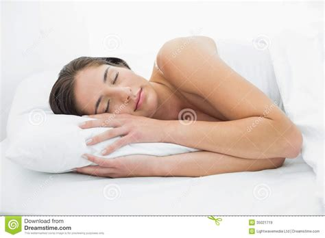 pretty in bed pretty sleeping in bed royalty free stock images image 35021719