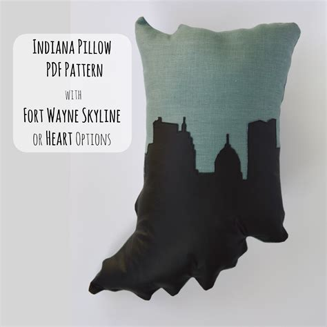 Indiana Pillow by Easy Indiana Pillow Pdf Sewing Pattern With Fort Wayne