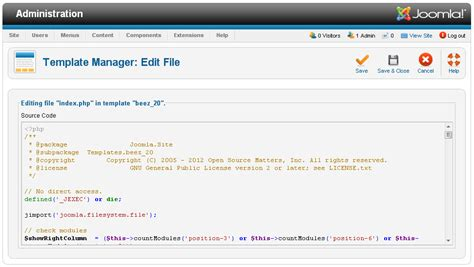 how to edit template in how to edit site template in joomla 2 5 joomtut