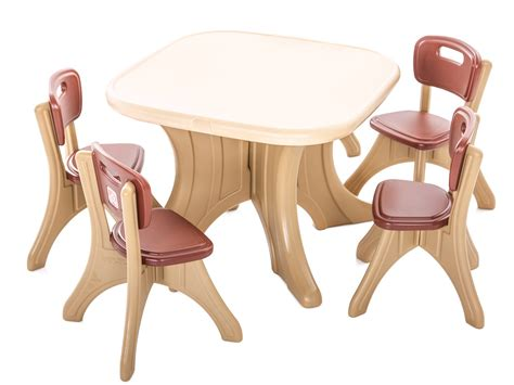 plastic table with chairs square plastic table with chairs play with a purpose