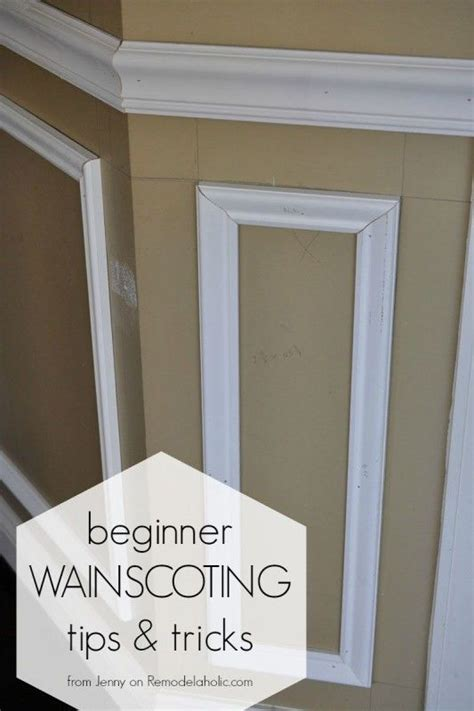 How To Create Wainscoting With Moulding by Installing Trim Wainscoting Such As A Chair Rail Or