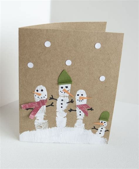 paper craft christmas card ideas kids preschool crafts