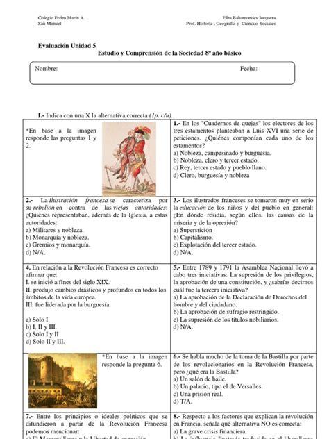 preguntas revolucion francesa prueba revolucion francesa guia prueba