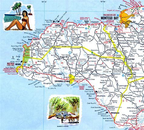 map us jamaica road map jamaica 2011