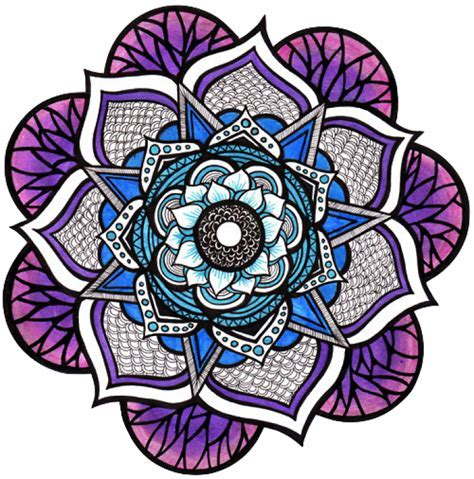 tumblr flower mandala Chrome Theme   ThemeBeta