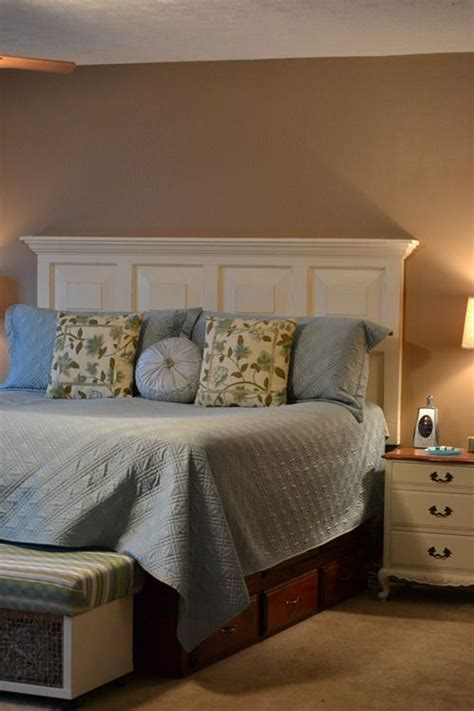 how to mount a door as a headboard headboard ideas repurposed and headboard door on pinterest
