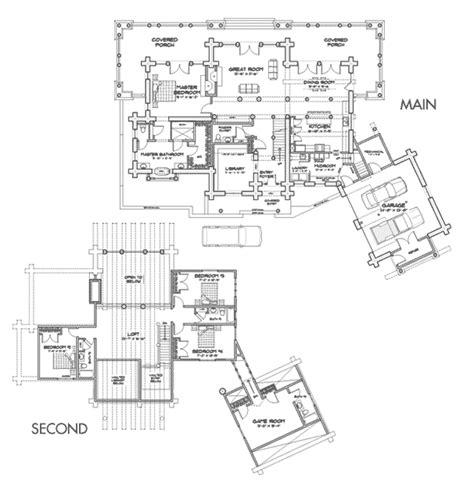 caribou log home floor plan by precision craft peaks lodge log home floor plan