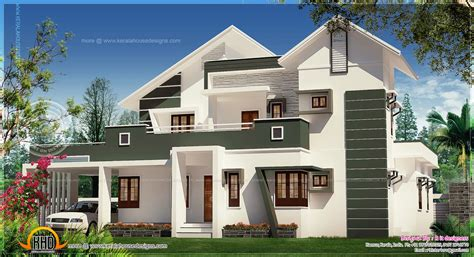 modern villa plans luxury modern villa elevation home kerala plans