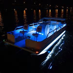 lights on boats overtons 24 flex track led light kit for pontoon boats