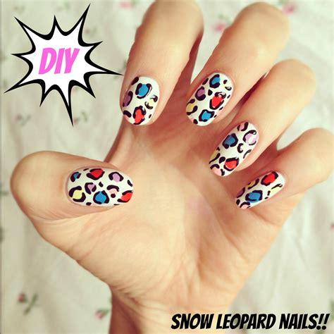 easy nail art cheetah diy snow leopard nail art burkatron