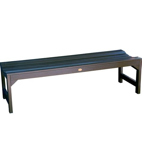 backless bench backless garden bench in outdoor benches