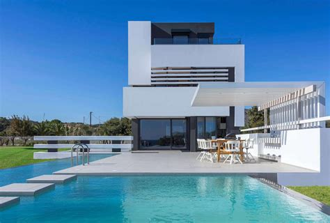 modern albatross villa on the island of rhodos by andreas chadzis and myrto kaloni