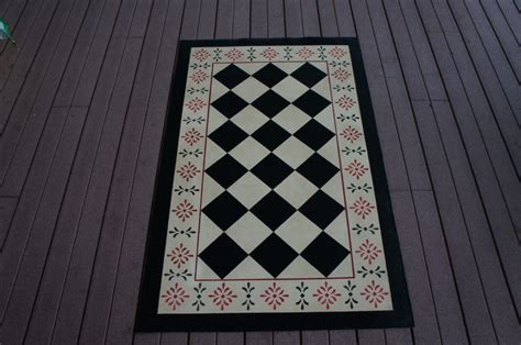 Canvas Rug by Canvas Rug Floorcloth Stenciled And Painted