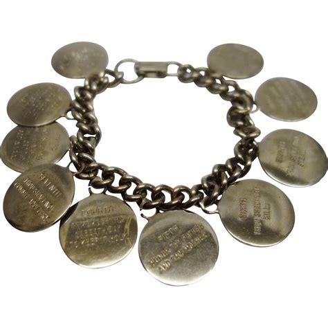 vintage 1960 s ten commandment charm bracelet from